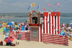 Punch and Judy. Weymouth and Portland Sailing, Olympic Games 2012